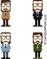 man cartoon - vector art illustration