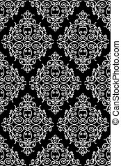 wrought iron pattern - repeating left to right, top to...