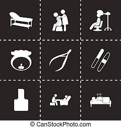 Vector spa icon set