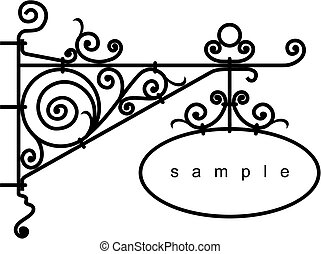 iron design frame - iron design elements - vector...