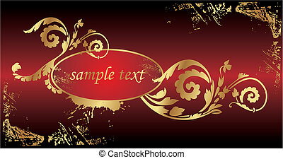 floral background - vector floral background