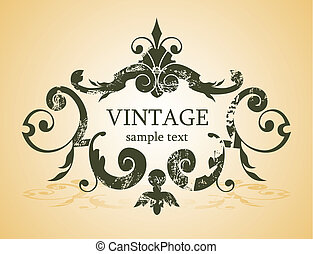 vintage background - vector vintage background