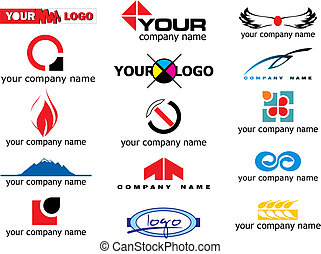 vector logo elements - different logo elements - vector...