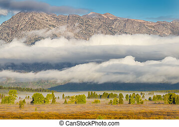 Early Morning in the Tetons - Early morning view of the...