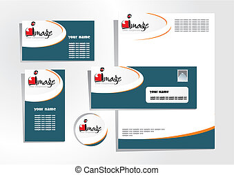 corporate identity 6 - corporate identity template - vector...