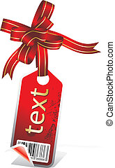 sticker with ribbon