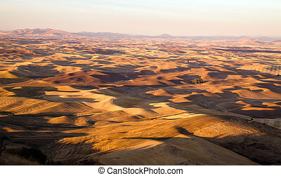 Palouse Region Eastern Washington Farmland Rolling Hills