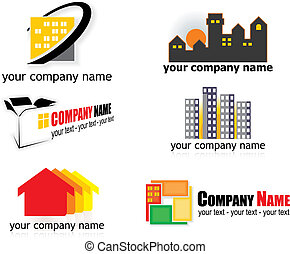 real estate logos - real estate logo elements - vector...