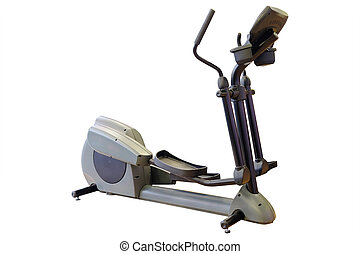 Elliptical cross trainer in a gym