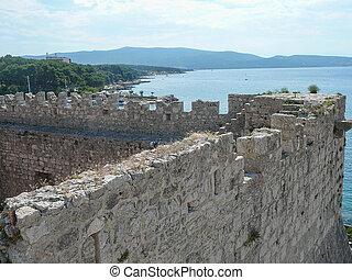 View of Krk - View of the city of Krk in Croatia