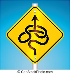 warning traffic sign - vector illustration