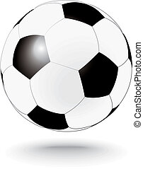 simply black and white soccerball, football - simply black...