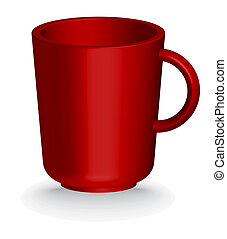 red coffe or tea cup