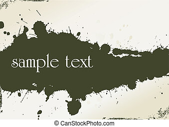 abstract grunge background made from splashes - vector...