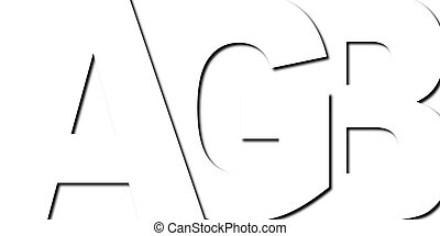 Typography AGB - Graphic of an abstract...