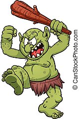 Cartoon Troll - Angry cartoon troll. Vector clip art...