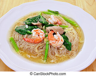 noodles with prawns
