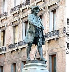 Statue of the great Italian playwright and librettist Carlo...