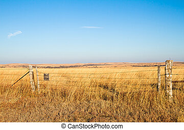 Prairie Blessing - A Prairie Blessing sign on a barbwire...