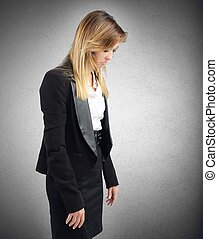 Sad businesswoman - Businesswoman sad and stressed from her...