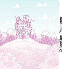 Magic Castle - Illustration of magic princess castle