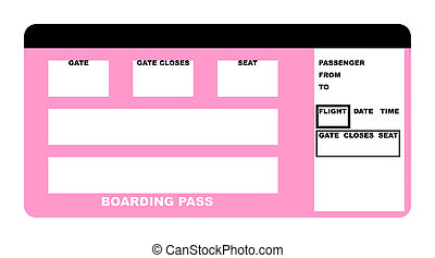 Boarding pass - Illustration of blank airline boarding pass...