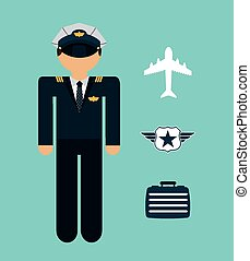 airplane pilot design, vector illustration eps10 graphic