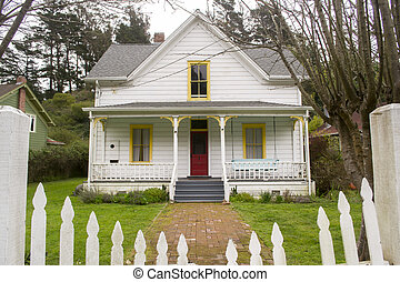 Quaint House in Northern California - a view of a small,...
