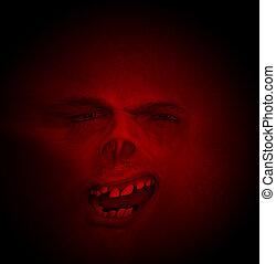 坏, 臉, 万圣節, 牙齒, 可怕