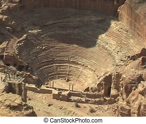 Ruins of amphitheatre in Petra