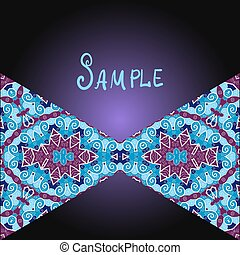 Tribal flyer design with two triangles