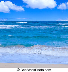 Ocean background - Tropical water (ocean, sea) background in...