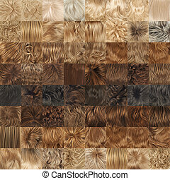 Multiple hair texture backgrounds - Multiple hair textures...