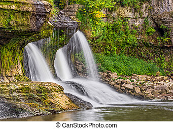 Summer at the Upper Cataract - Cataract Falls, a large...