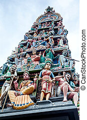 Sri Mariamman Hindu Temple in Singapore Chinatown - Sri...