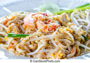 pad thai - Stir fry noodles name is pad thai for thai food