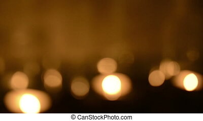 Defocused Candle Background - Bokeh blur defocused...