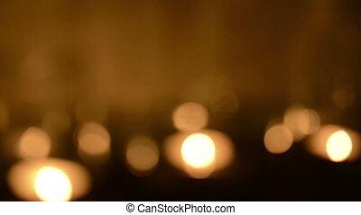 Defocused Candle Background - Bokeh blur defocused...