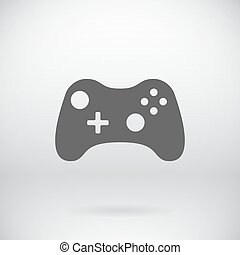 Flat Gamepad Joystick Joypad Icon Vector Symbol Background -...