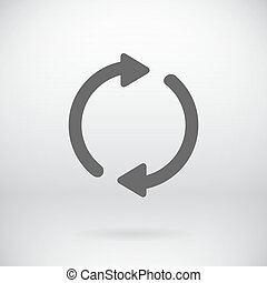 Flat Back Sign Vector Refresh Symbol Background -...