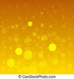 chaud, Été, fond, à, jaune, lentille,...