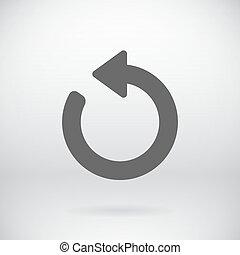 Flat Back Sign Vector Refresh Symbol Background -...