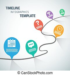 Web Infographic Timeline Speech Bubble Template Layout With...