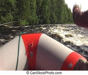 Rafting in Karelia, Russia