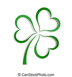 Clover. Abstract Logo design - Colorful graphic design over...