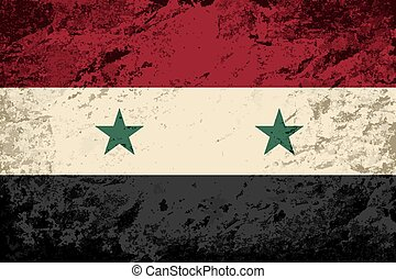 Syrian flag Grunge background Vector illustration Eps 8