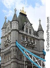 Bridzs, Uralkodik, két, egy,  UK, bástya,  London
