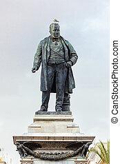 Camillo Benso di Cavour monument on Piazza Cavour.