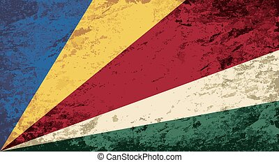 Seychelles flag Grunge background Vector illustration