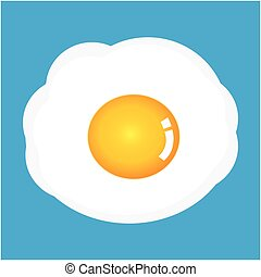 vector fried egg isolated